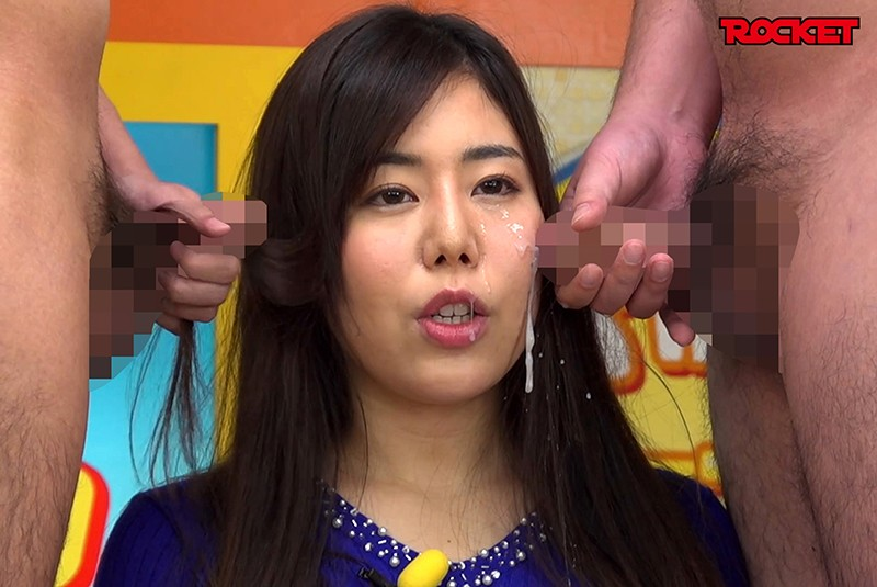 RCTS-010 Studio ROCKET - What If You Could Jump Inside Of Your TV And Bukkake Your Sperm Everywhere... A New Female Announcer Facial! No Matter How Much Cum She Gets On Her Face, She'll Grin And Bear It And Keep On Broadcasting Wakana Shiroyama - big image 1