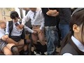 美尻乗務員が騎乗位でおもてなし 中出しオマ●コ通勤電車sample13