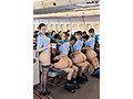 [SDDE-652] 「制服・下着・全裸」でおもてなし またがりオマ○コ航空14 中出し騎乗位便