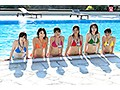 社内の人気投票で選ばれたおっぱいが大きくてめっちゃ可愛い新入社員を限定選出!部署対抗!青空水泳大会 SOD女子社員
