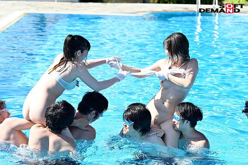 社内の人気投票で選ばれたおっぱいが大きくてめっちゃ可愛い新入社員を限定選出!部署対抗!青空水泳大会 SOD女子社員12