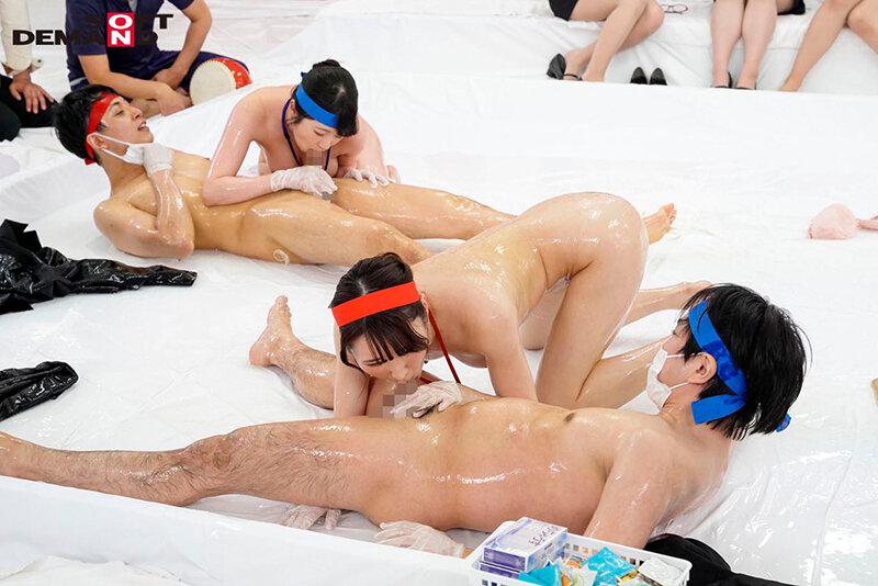 4年に一度のスポーツの祭典 祝 東京開催記念! ぬるぬるローション 仲良し部署対抗 ハメハメ合戦 ~ユーザー様を招待した男女混合大乱闘スペシャル~