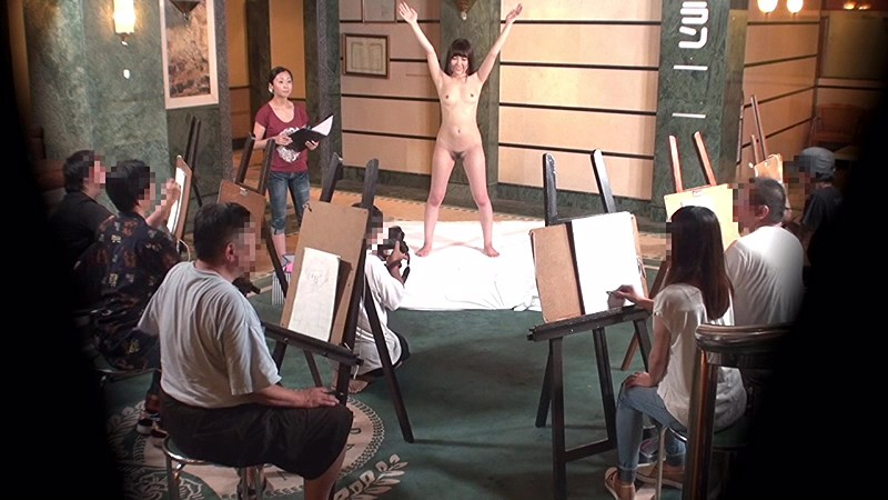 「デッサンモデル募集」で集まった美人妻が合体ヌードモデル体験 'おま○こパックリ'ポーズからパイパンにされて生ち○ぽ結合!中出し!の野外羞恥絵画教室