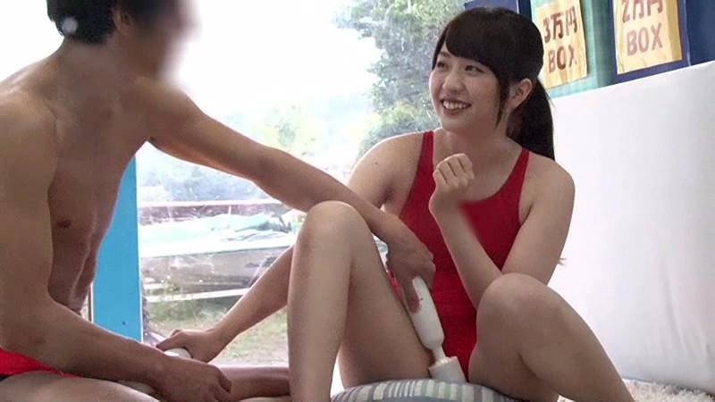 【素人】美乳で水着姿の素人女子大生の、バックプレイが、マジックミラー号にて…!!