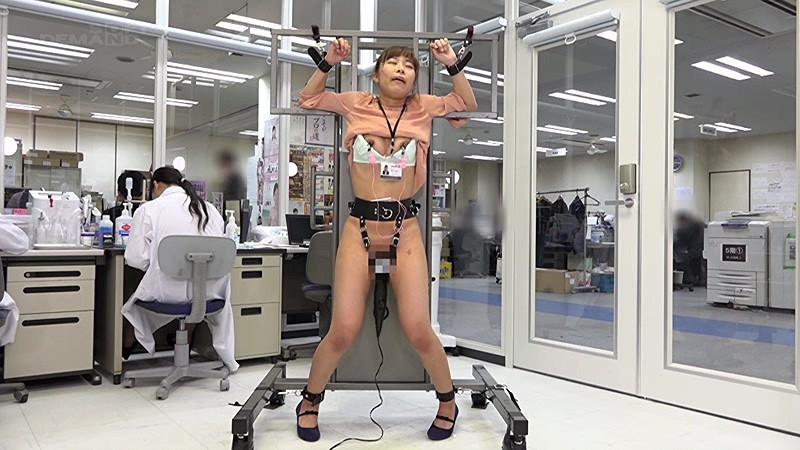 【乳首】スレンダーなOLの、電マ拘束着エロ無料エロ動画。【OL動画】