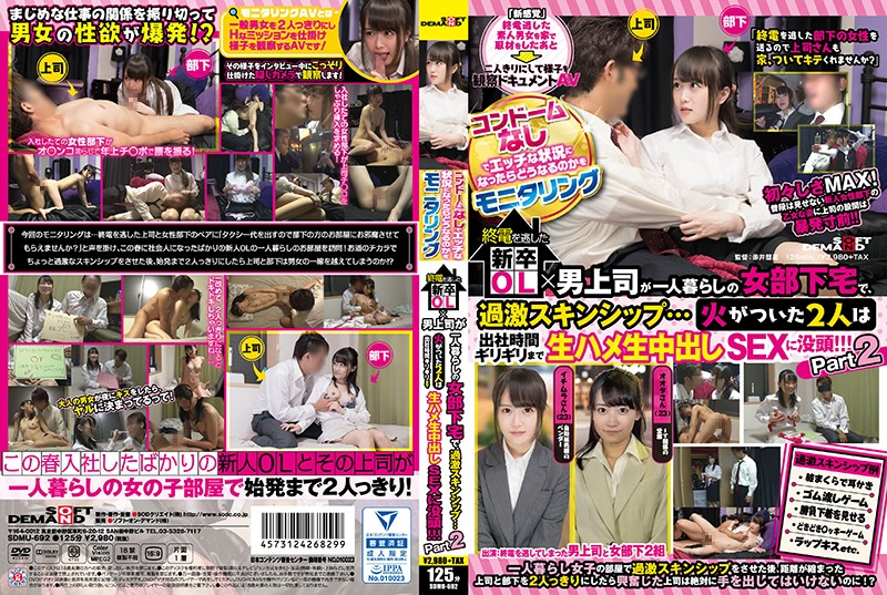 SDMU-692 We Conducted A Survey Of What Would Happen When A Situation Got Hot And Erotic But No Condoms Were Available When This Newly Graduated Office Lady And Her Male Boss Miss The Last Train Home, They End Up At Her Home In Some Up Close And Personal Bonding... When They Both Get Hot And Horny, They'll Be Having Creampie Raw Footage Sex Until It's Time To Go To Work!!! Part 2 2
