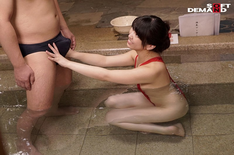 温泉街で見つけた初対面の男女が「裸よりも恥ずかしい水着で混浴体験!!」きわどい相互マッサージをやらされ気分が高まる即席ペアは理性を保てるのか?! キャプチャー画像 11枚目
