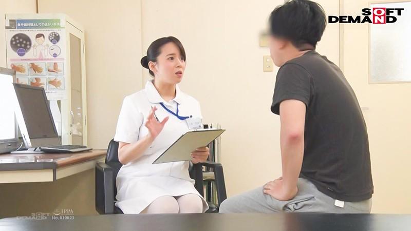 爆乳看護師が不妊で悩む既婚男性患者を治療するために中出し性交 三島奈津子 1枚目