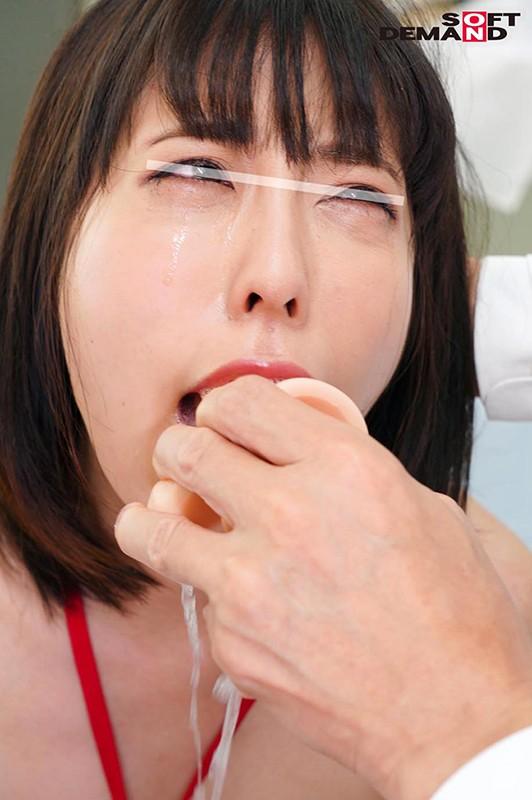 「全身から体液を漏らし続けたらどうなるか?」を検証した結果、喉奥イラマチオでえづき汁まみれで快楽絶頂 馬場嗣美 8枚目