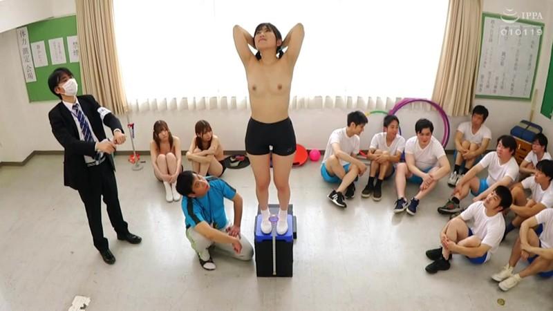 羞恥!青少年男女混合全裸体力測定2020