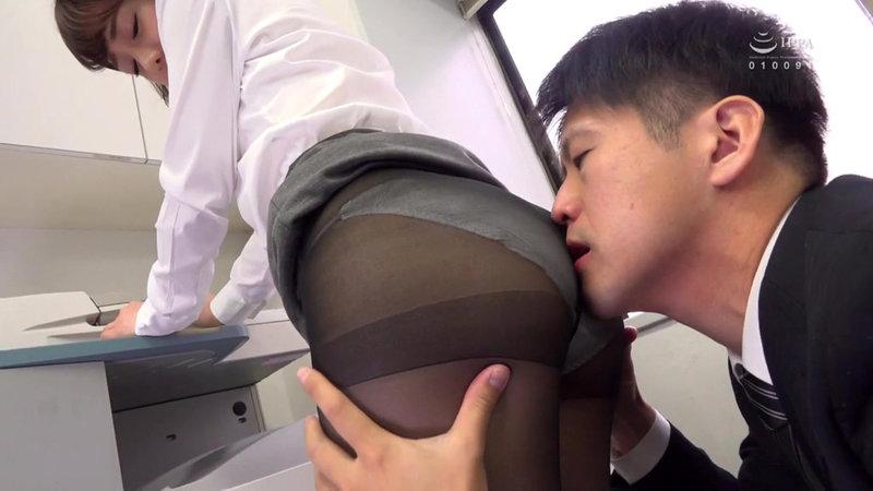 女子社員のむっちり黒パンスト透けパンチラが社内や出張先で俺を誘う。パンスト破ってチ○ポねじこんでイイんですよね?1