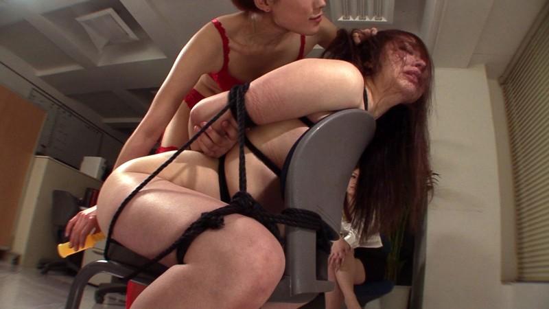 緊縛汚辱レズ折● 職場で先輩に虐められる牝豚OL 画像12