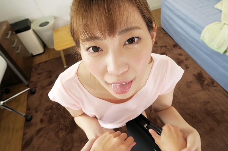 【VR】接吻しまくり淫口よだれ女子大生 美谷朱里