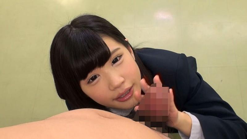 女子校生のささやき淫語手コキ 画像1