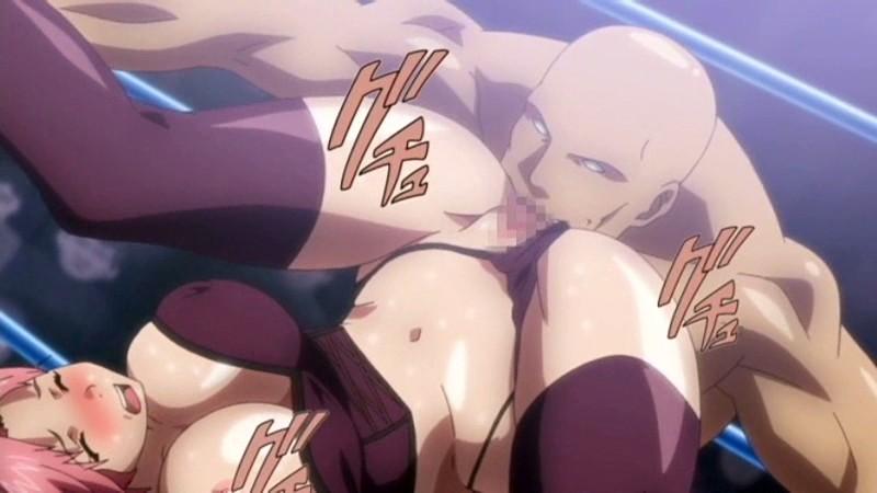 エロ格闘アニメ!!リングの上で恥辱の公開絶頂!!