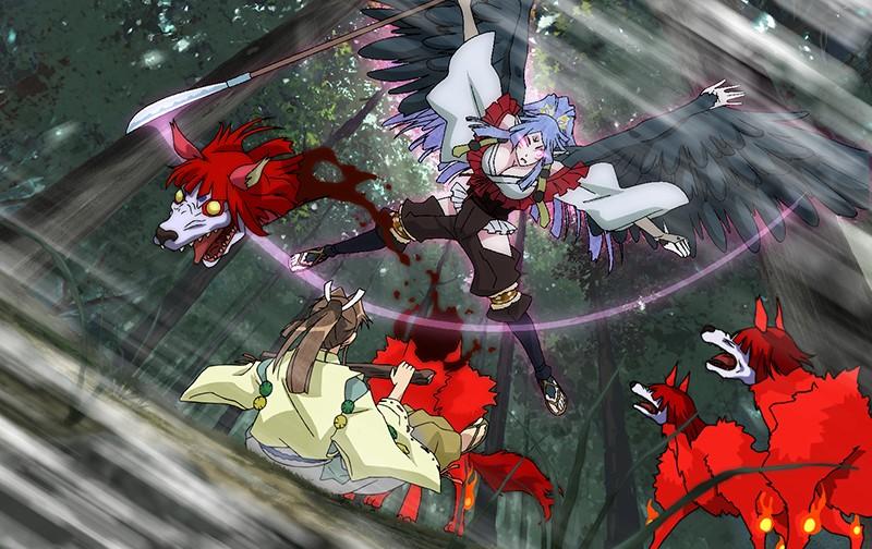 「漆黒のシャガ THE ANIMATION 第一話『女郎蜘蛛』」の画像