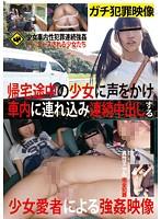 帰宅途中の少女に声をかけ車内に連れ込み連続中出しする少女愛者による強姦映像 ダウンロード