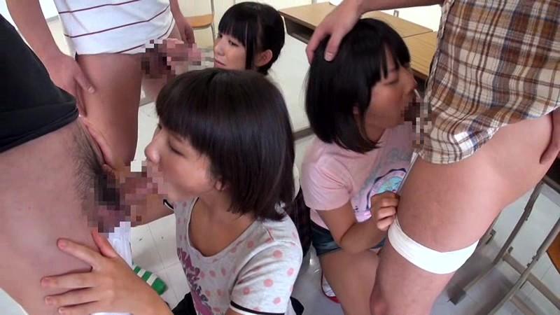 日焼け跡が残る小○生と夏休み校内乱交|無料エロ画像9