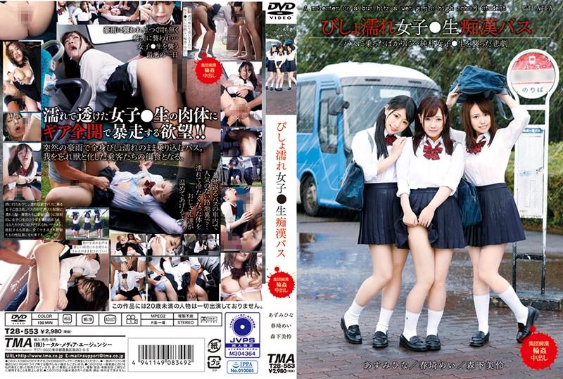 T28-553 Dripping Wet Sch**lgirl Molestation Bus
