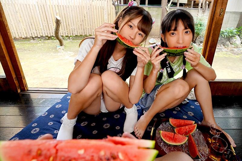 【VR】日焼け姪っ子姉妹VR2 冬愛ことね 松本いちかのサンプル画像