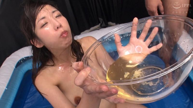 覚醒肉便器 90発の精子と小便 飲ザー飲尿アナルSEX 藍川美夏のサンプル画像