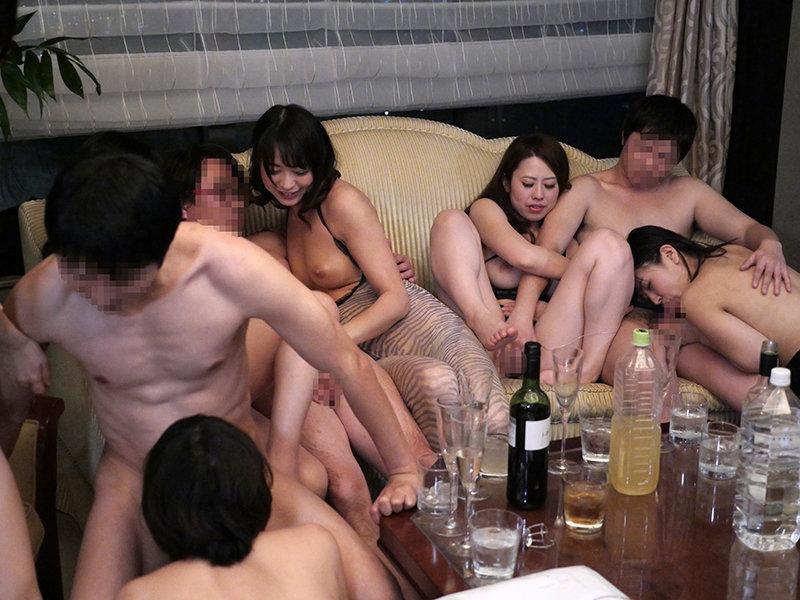 淫乱スイートルーム!東京ベイエリアに集まったH大好きセレブたちのイチャラブ生ハメ乱交パーティー!