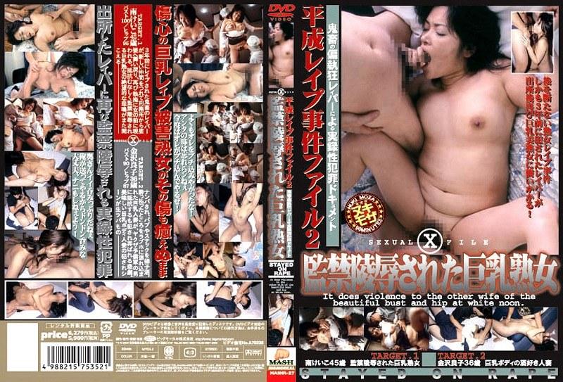 平成レイプ事件ファイル 2 監禁陵辱された巨乳熟女 パッケージ