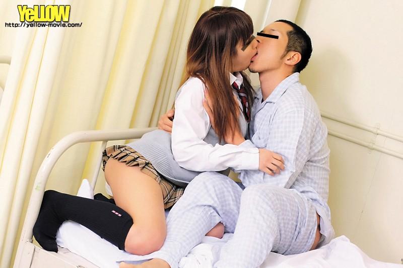 【JKパンチラ】制服姿のギャル痴女の、パンチラ騎乗位プレイが、病院にて…!