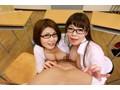 【VR】W巨乳淫乱教師の中出し性教育授業◆ 水城奈緒 推川ゆうりsample6