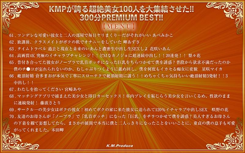 【VR】KMPが誇る超絶美女100人を大集結させた!!300分 PREMIUM BEST!!