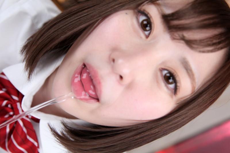 【VR】女子校生の口移しVRのサンプル画像