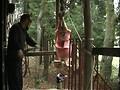 人妻調教 吹き矢針責め天井吊りのサンプル画像 9