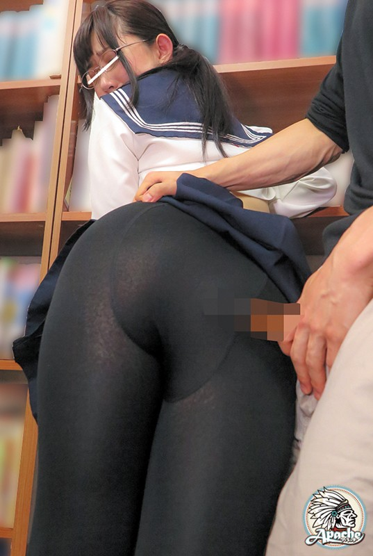メガネっ娘JK 黒タイツ内大量射精痴● 画像7