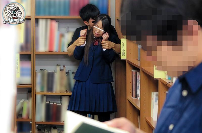 メガネっ娘JK 黒タイツ内大量射精痴● 画像8