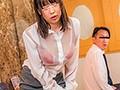 突然のゲリラ豪雨で雨宿りのために入ったラブホテルでずぶ濡れになった同僚女子社員の透け透けの派手な下着に堪らずフル勃起!我慢できずに襲って中出しまでしちゃいました!