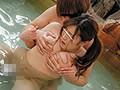 乳首こねくり回し混浴温泉痴●