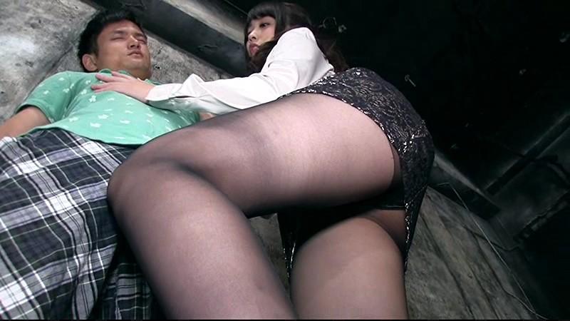 むちむち黒ストッキング×腿コキ 画像9