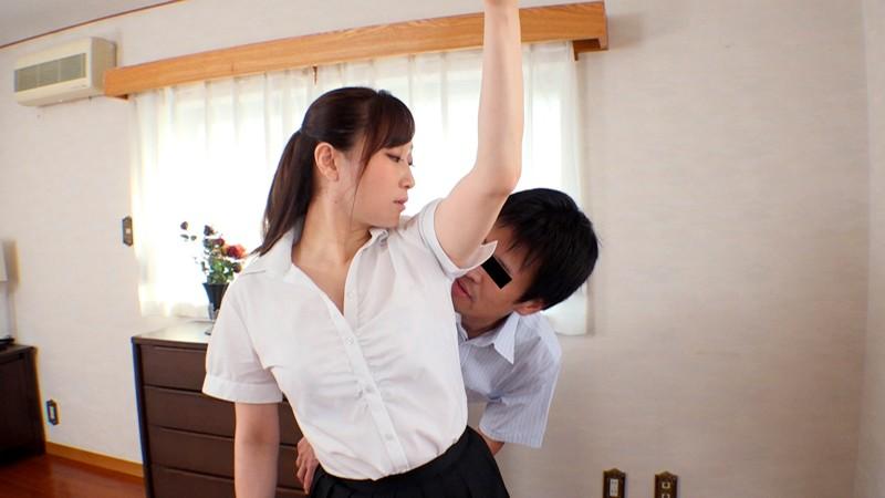 腋が好きな男子、お姉さまのフェイスロック&手コキで昇天する 画像15