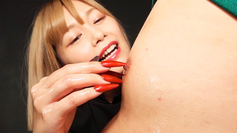 つけ爪でコリコリこりこり刺激され続ける超絶睾丸回春サロン