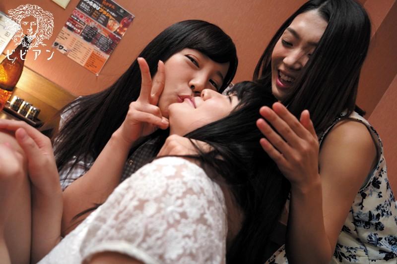 酔った勢いでレズNTR 彼女とバイト先の女子会ビデオを見つけて…のサンプル画像