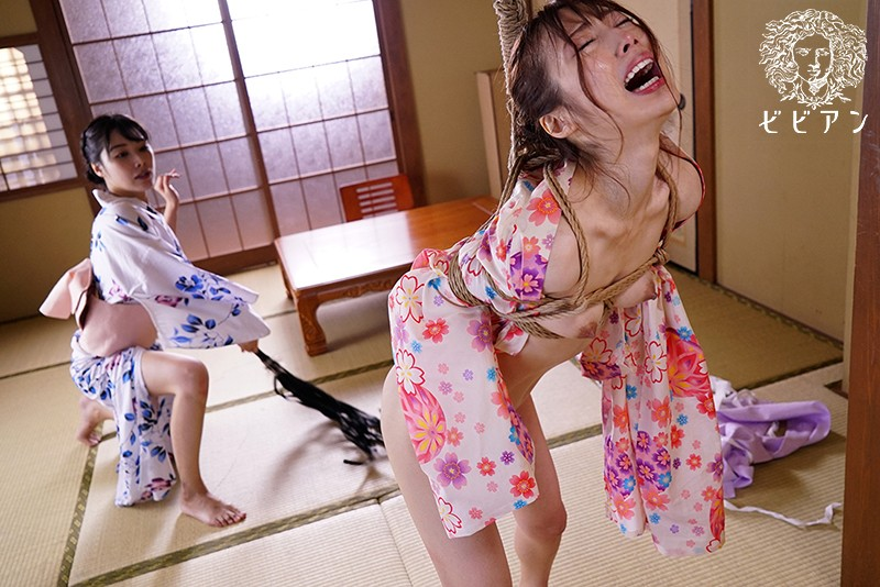 温泉旅館 レズビアンカップル旅先緊縛調教 宇野栞菜 春原未来 画像9