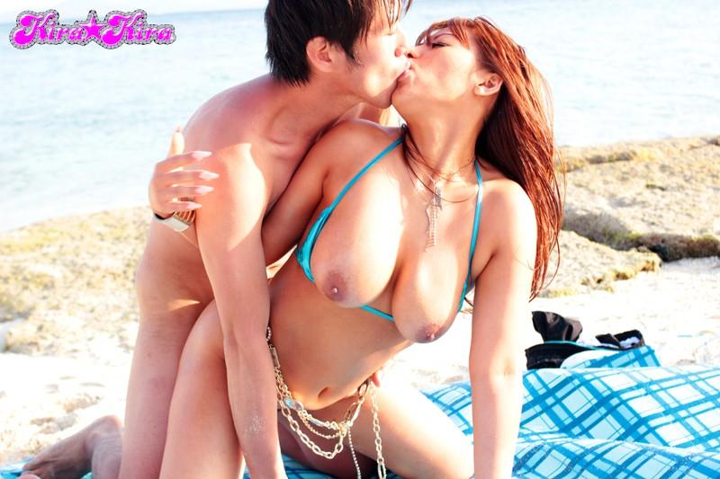 【#さくら悠】kira☆kira BLACK GAL DEBUT 黒ギャル新人デビュー-常夏ビーチで激揺れJcup超爆乳- さくら悠[blk00076][BLK-076] 3