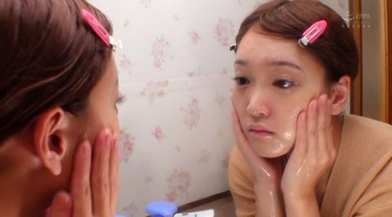 いつも綺麗なあの娘がメイクを落とした素顔を晒す…可愛いすっぴん顔にぶっかけ顔射SEX!!