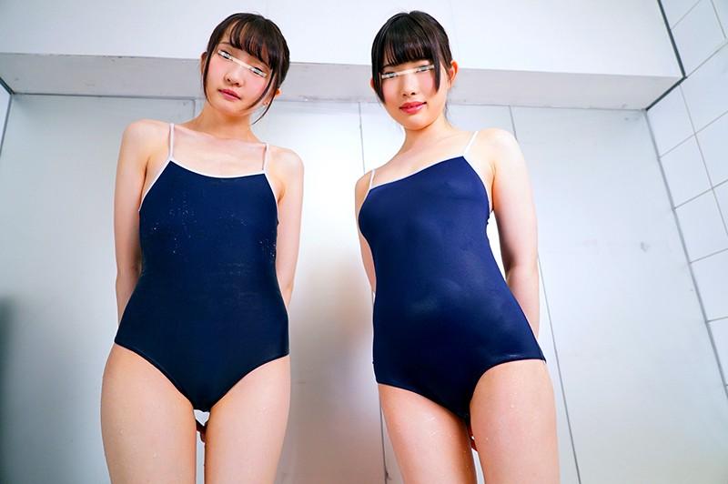 スクール水着に着替える円光JK