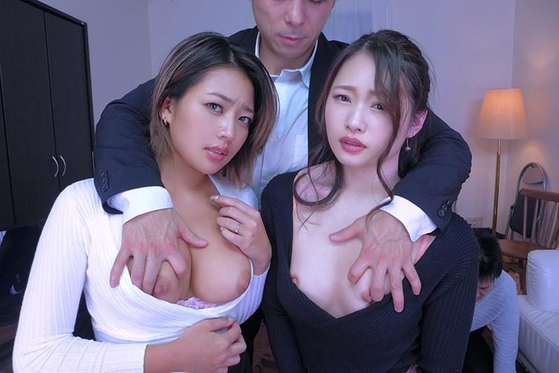 【VR】借金妻NTR体験VR 黒ギャル巨乳人妻と色白の美尻人妻の2人と借金返済4Pしたボク 2