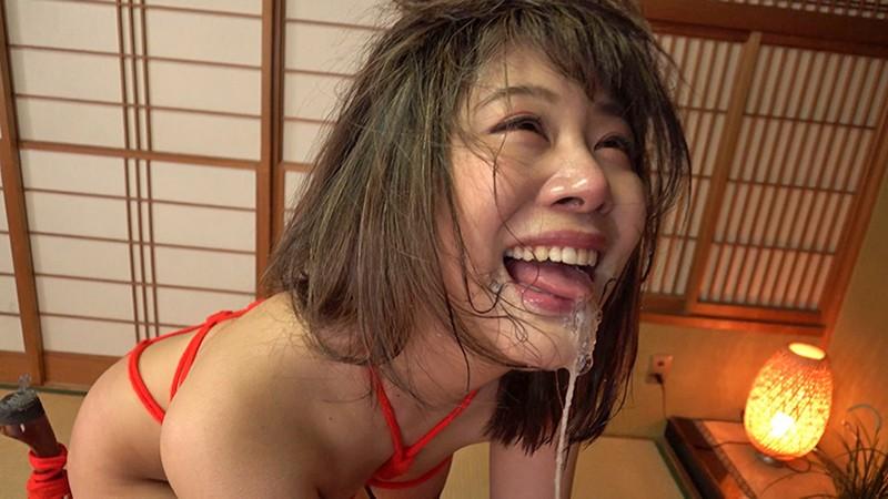 初めての緊縛とイラマチオ漬けで興奮する新婚アラサー巨乳妻 明日香さん(31)9