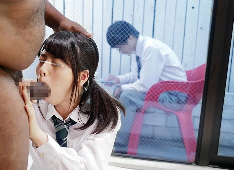 【黒人】激カワな素人女子校生の、イラマチオ寝取られセックス無料H動画。【即ハメ動画】