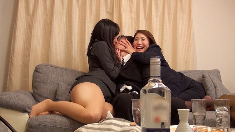 一般男女ドキュメントAV ほろ酔い爆乳女上司たちと宅飲み→説教→朝まで中出し(命令)2 キャプチャー画像 3枚目