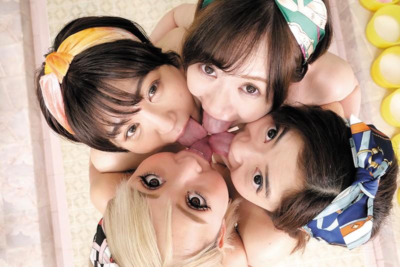 美人4姉妹が切り盛りする昔ながらのレズビアン銭湯7