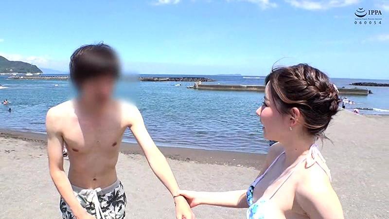 真夏の海と痴女とナンパ 深田えいみ